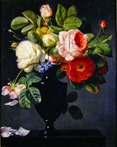 Still life with flowers by Antoine Berjon
