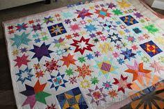 Piece N Quilt: Modern Star Quilt - Custom Machine Quilting by Natalia Bonner