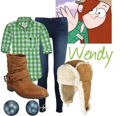 """Wendy (Gravity Falls)"" by colorsgalore ❤ liked on Polyvore"
