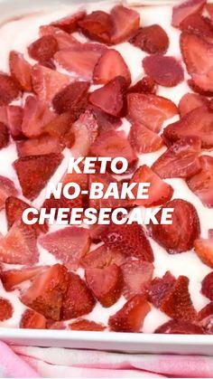 Keto No Bake Cheesecake, Keto Cake, Breakfast Cheesecake, French Cheesecake, Breakfast Recipes, Breakfast Ideas, Keto Recipes Dinner Easy, Healthy Cheesecake Recipes, Cheesecake Fat Bombs