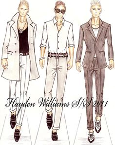 Men Fashion Designer Sketches Sketches Fashion Design