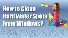 Hard water generally leaves spots on windows, which are difficult removing when they are baked on by the sun. Here are some simple ways of removing them.