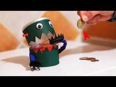 Robot Traga Monedas Casero - Hucha Come Monedas - YouTube