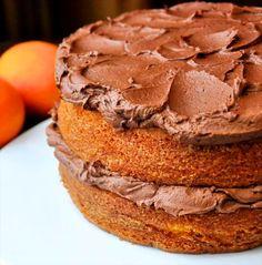 Orange Velvet Cake with Chocolate Buttercream Frosting - Rock Recipes