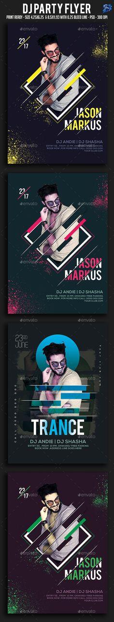 Dj #Party #Flyer - Clubs & Parties Events Download here: https://graphicriver.net/item/dj-party-flyer/20153671?ref=suz_562geid