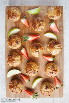 No Junk muffins with apple, cinnamon and strawberry - great for kids