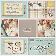 """Sunday Morning"" by Jennifer, as seen in the Club CK Idea Galleries. #scrapbook #scrapbooking #creatingkeepsakes"