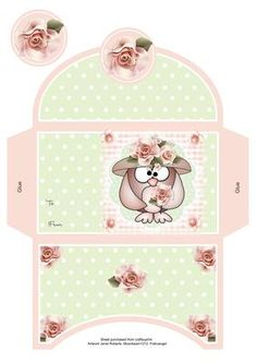 Mother Owl Money Wallet on Craftsuprint designed by Janet Roberts - This money wallet goes with my 'Mother Owl Birthday/Mother's Day' Mini kit ...... see the link below - Now available for download!
