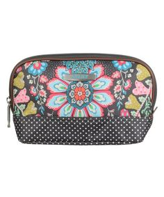 Oilily Charcoal Small Travel Toiletry Bag   zulily