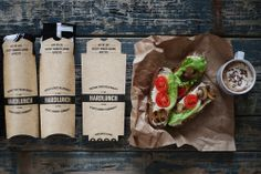 Hard Lunch T-Shirt Packaging via @thedieline