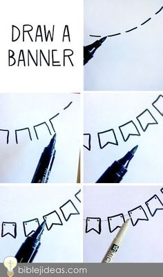 A Simple Banner You Can Draw: Bible Journaling