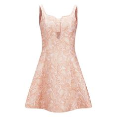 Opening Ceremony's sleeveless fit and flare dress is embroidered with delicate brocade in an ornamental petal design. The neutral pink hue complements the A-li…