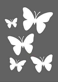 Butterflies Airbrush, Wall Art, Paint Stencil, Genuine Mylar Re Useable * New Thicker 190 Micron * by Cfsupplies Butterfly Stencil, Butterfly Drawing, Butterfly Template, Butterfly Painting, Butterfly Crafts, Flower Template, Bird Stencil, Damask Stencil, Wall Painting Decor