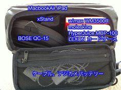 >動く仕事環境をこのコンパクトなバッグであっという間に構築できるのです。