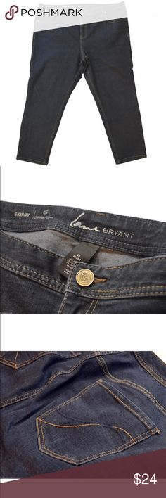 """Lane Bryant Skinny Genius Fit Short Jeans 👖 Lane Bryant Jeans Waist measures 26"""" Inseam is 27"""" Condition: Jeans in good condition, please see photos for exact item you will receive. Closest color match are the close up photos. Lane Bryant Pants Skinny"""