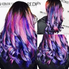 Pink and purple Galaxy by @hairbyjazzmynngrace  Call the salon to book a free consultation to achieve this look. Show your colorful side  813.801.9700 using @olaplex in @magiclightener  @pravana #colormelt #colorfulhair #galaxyhair #mermaid #mermaidhair #mermaidians #unicornhair #colourpop #pravana #pravanavivids #neon #neonhair #ESTETICALIKES  #rainbowhair #rainbow #hairenvy #hairinspo #hotonbeauty #pinkhair #purplehair  #Olaplex #dyeddollies #dollswithdye @mermaidians #showusyo...