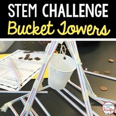 STEM Challenge: Heres another fun STEM challenge using very easy materials and a lot of problem solving!Note: This challenge can be purchased in a money-saving bundle!This challenge is to build a tower (although not a very tall one) that will hold weight.