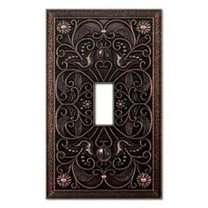 Creative Accents Arabesque 1 Toggle Wall Plate - Antique Bronze-9DCB101 at The Home Depot