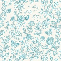 Palace Garden | Turquoise fabric by forest