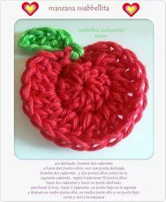 Manzana aplique crochet