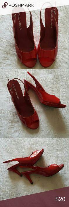 "Michael Shannon platform heels Michael Shannon platform heels Size: 10M Leather upper Peep toe Excellent condition 3"" heel Shoes Heels"