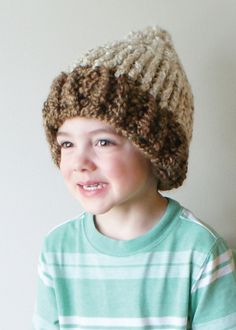Ravelry: Chunky Acorn Hat in Toddler, Child and Adult Sizes (hat014) pattern by Erin Black