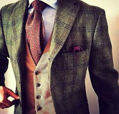 // For the daring and dapper Gent. Great fall look for the office. Are you brave enough to wear this look?