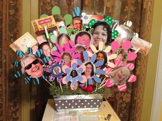 For Bosses Day at Work! All the staff pics and several gift cards to local restaurants!