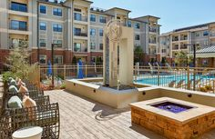 Make a splash in our resort-style pool or entertain friends with #poolside #BBQ grills and cabanas! #Luxury #Apartments #GA