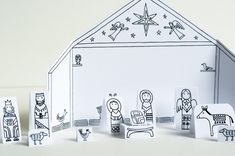 Made by Joel » Travel Size Paper City Nativity Scene!