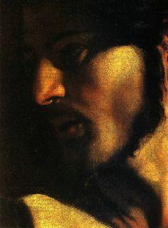 Caravaggio, La vocazione di S. Matteo, particolare