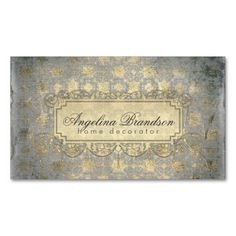 Shop Home Decorator/Interior Designer Vintage Card created by Jolanta_Prunskaite. Gold Business Card, Business Cards, Vintage Cards, Vintage Designs, Recycling, Things To Come, Vibrant, Interior Design, Cards