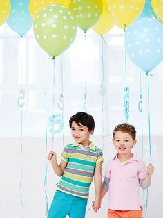 Send party guests home with helium balloons adorned with cutout paper numbers (the birthday kid's age).