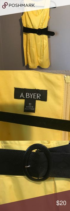 EUC A. Byer yellow dress EUC A Byer yellow dress. Perfect for work or business casual events! Size 11 A. BYER Dresses Midi