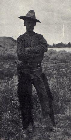 """vintagecowboy: """"A Montana cowboy (1896). """""""