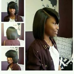 Women's Black Hairstyles: Fabulous Styles – Stylish Hairstyles Black Girl Short Hairstyles, Black Hairstyles With Weave, Remy Human Hair, Remy Hair, Hairstyle Look, Cool Hairstyles, Straight Black Hair, Hair Addiction, Short Bob Wigs