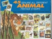 45 Genuine Postage Stamps Assortment – Animals