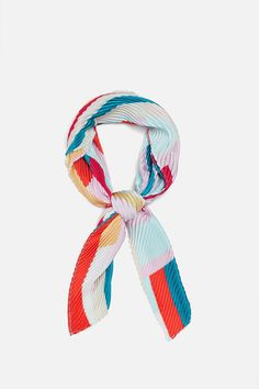 Small Scarf, Mind Up, Junk Food Clothing, Summer Scarves, Neckerchiefs, Zara United States, Scarf Styles, Women's Accessories, Prints