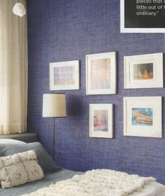 Phillip Jeffries Belgian Linen wallpaper in Van Buuren Blue