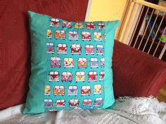 Mint Green Camper Van Cushion Cover by BySand on Etsy, $14.00