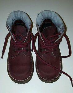 Dr Martens 6515 Official West Ham United 5 Eyelet Red Cherry Boots Size Kids 11