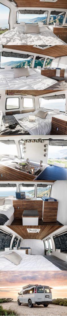 Work van converted to cozy RV camper