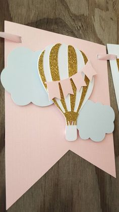 One Hot Air Balloon banner-One Up up and away banner-one girl   Etsy