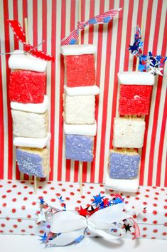 Don't forget to make your 4th of July Firecracker Kabobs! No bake and kids love them