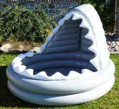 Could be a cool reading center! Pottery Barn Kids Inflatable Shark Kiddie Pool… - All For Backyard Ideas Inflatable Shark, Kiddie Pool, Shark Party, Pool Floats, Pool Toys, Cool Pools, Pool Designs, Pottery Barn Kids, Future Baby