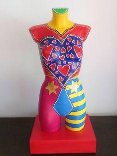 "Pop Art Plastiken Skulpturen Statuen Torso moderne Kunst Frau Unikat ""L. Styrofoam Head, Mannequin Art, Body Painting, Love Of My Life, Buy Art, Saatchi Art, Modern Art, Original Art, Arts And Crafts"