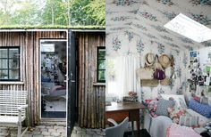 Charlotte Lynggaard's house; lovely and cute guest room