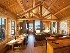 DreamDecorDesign.com <3 Spectacular View Luxury Log Home Adjacent to Lifts & Village