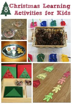 Fun holiday learning activities using Christmas trees, gingerbread men and more holiday symbols!