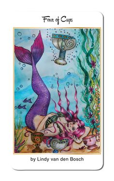@lindyvdbosch returns to create our Four of Cups for 78 Tarot…